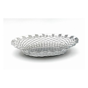 Stainless Steel Oval Basket 29.5 x 23.5cm