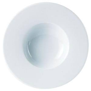 Porcelite Wide Rimmed Pasta Plate 22cm