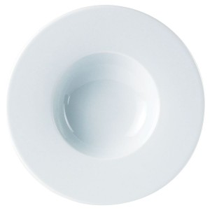 Porcelite Wide Rim Pasta Plate 27cm