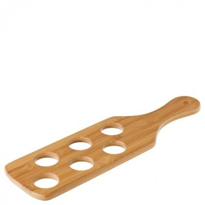 Bamboo Shot Paddle to hold 6 Shots