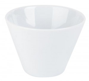 Porcelite White Conic Bowl 9 x 6.5cm