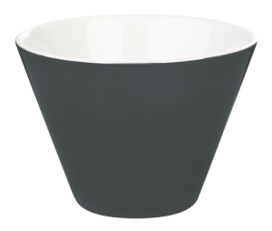 Porcelite Black Conic Bowl 10cm