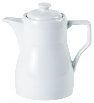 Porcelite White Traditional Style Coffee Pot 66cl / 23oz