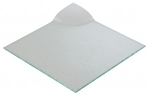 Square Glass Plate with Corner Handle 26 x 26.2 x 2.7cm