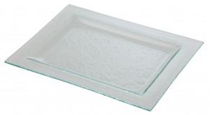 Rectangular Glass Plate with Rim 30 x 23cm