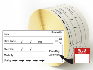 Use By Shelf Life Labels 50x95mm