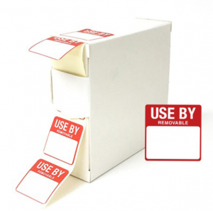 Use By Food Labels 25x25mm