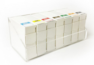 Full Set of Day of the Week Food Labels 25x25mm & Dispenser
