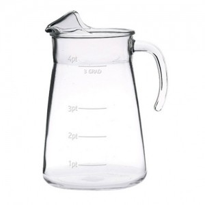 Ice Lipped 4 Pint Calibrated Jug CE 2.5Ltr