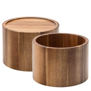 Acacia Stand for Nantucket Punch Barrel 17cm