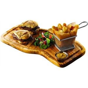 Olive Wood Serving Board with Groove 40 x 21cm