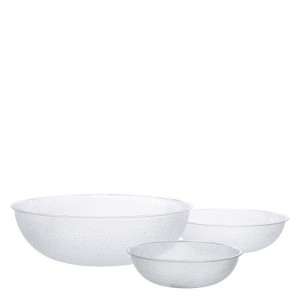 Carlisle Round Clear Pebbled Bowls 27.5cm