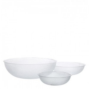 Carlisle Round Clear Pebbled Bowls 32.5cm