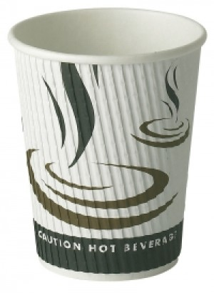 Weave Wrap Ripple Disposable Paper Coffee Cup 8oz / 227ml