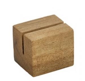 Acacia Wood Cube Sign Holder 3 x 2.5 x 2.5cm