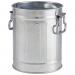 Galvanised Steel Miniature Bin 8.5 x 11.2cm