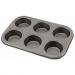 Genware Non-Stick 6 Cup Muffin Tray