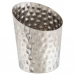 Angled Stainless Steel Serving Cup Hammered 9.5cm